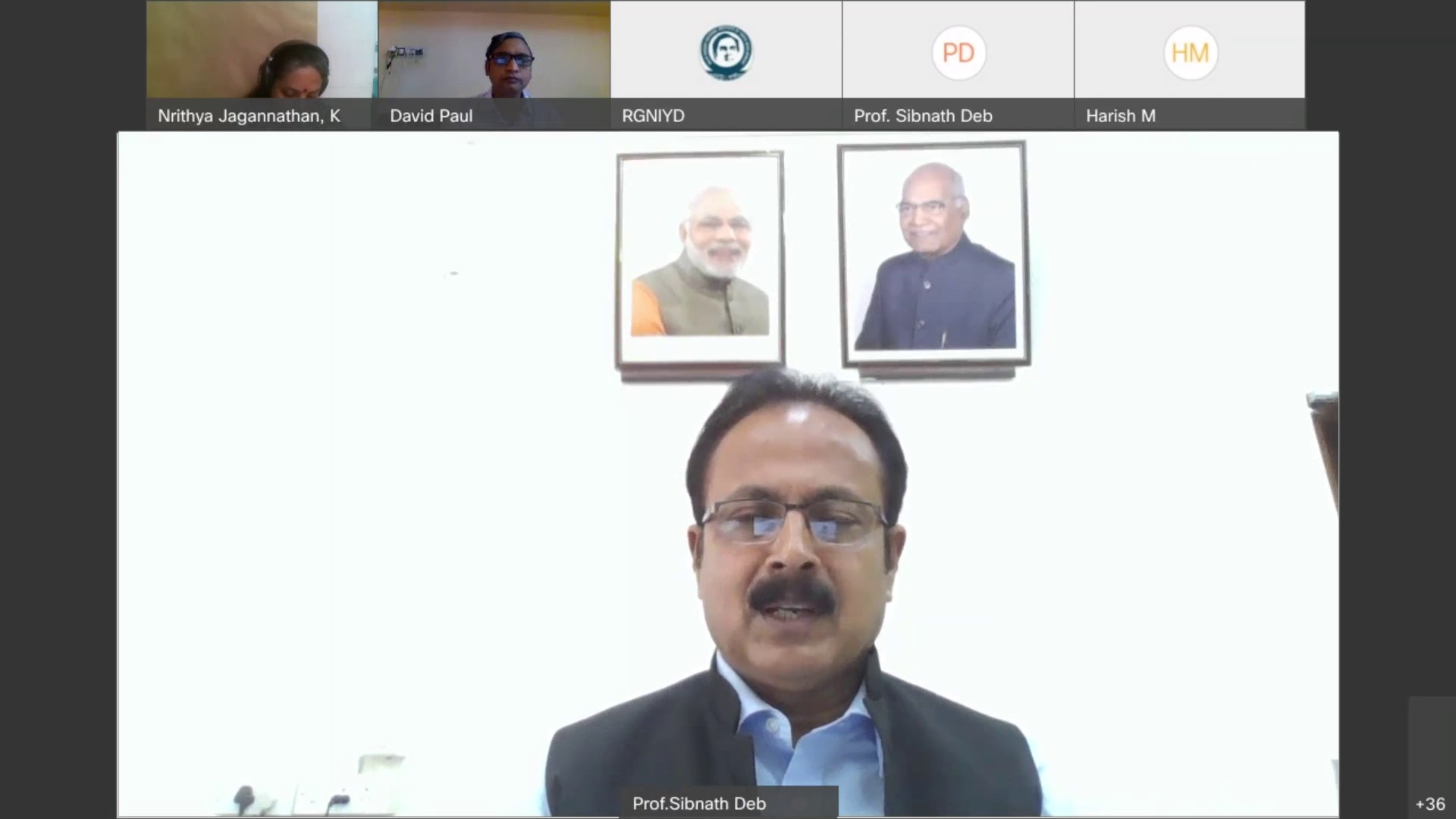 Prof. Sibnath Deb, Director, RGNIYD, Ministry of Youth Affairs and Sports, Government of India delivering Presidential Address in the 7th International Day of Yoga – 2021 on June 21, 2021
